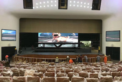 138sqm P3mm and P4mm LED Displays for Jiudu Theatre