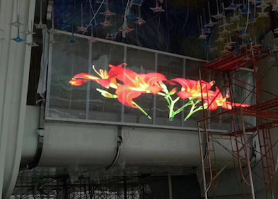 High Brightness Transparent LED Display Project