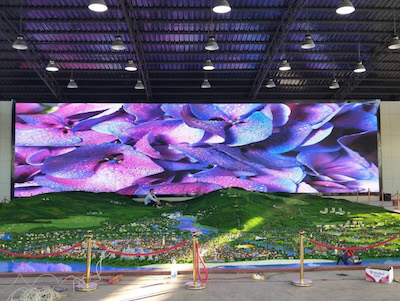 100sqm P4mm LED Display Porject in Xishuangbanna